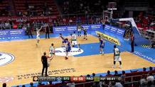 Nick Calathes (Panathinaikos) three-pointer