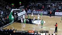Luke Harangody (Darussafaka) three-pointer