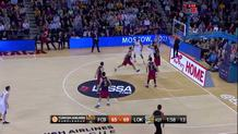 Anthony Randolph (Lokomotiv) rebound and put-back