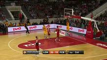 Alex Abrines (Barcelona) fast break slam