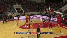 Brad Oleson (Barcelona) three-pointer