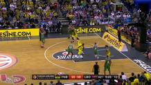 Bourousis sinks wide-open triple