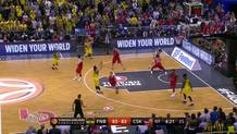 Sloukas starts overtime with a triple