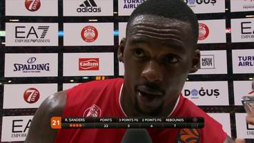 Post-Game Interview: Rakim Sanders, EA7 Emporio Armani Milan