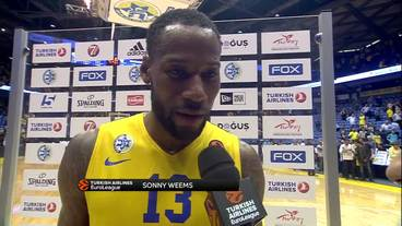 Post-Game Interview: Sonny Weems, Maccabi FOX Tel Aviv