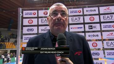 Post-Game Interview: Jasmin Repesa, EA7 Emporio Armani Milan