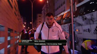 Teams'Arrivals: Panathinaikos Superfoods Athens vs. Real Madrid