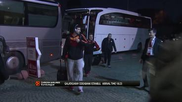Teams'Arrival: Darussafaka Dogus Istanbul vs. Galatasaray Odeabank Istanbul