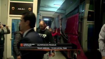 Teams'Arrivals: Panathinaikos Superfoods Athens vs. Olympiacos Piraeus