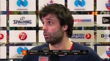 Post-Game Interview: Milos Teodosic, CSKA Moscow