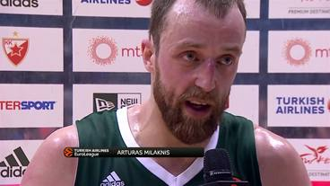 Post-Game Interview:  Arturas Milaknis, Zalgiris Kaunas