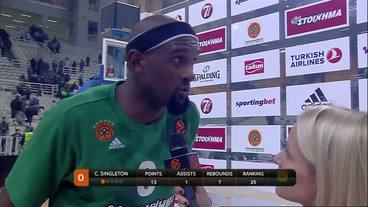 Post-Game Interview: Chris Singleton, Panatinaikos Superfoods Athens