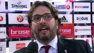 Post-Game Interview: Andrea Trinchieri, Brose Bamberg