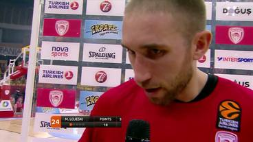 Post-Game Interview: Matt Lojeski, Olympiacos Piraeus