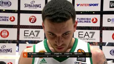 Post-Game Interview: Mike James,Panathinaikos Superfoods Athens