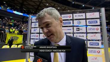 Post-Game Interview: Ainars Bagatskis, Maccabi Fox Tel Aviv
