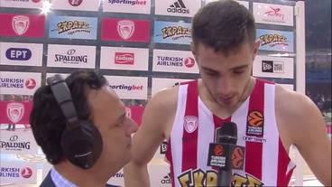 Post-Game Interview: Ioannis Papapetrou, Olympiacos Piraeus