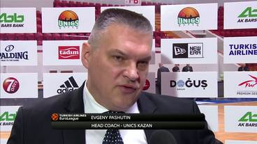 Post-Game Interview: Evgeny Pashutin, Unics Kazan