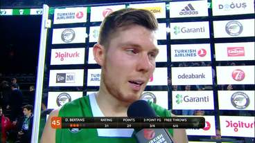 Post-Game Interview: Dairis Bertans, Darussafaka Dogus Istanbul