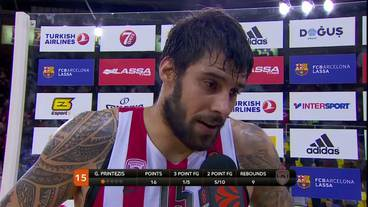 Post-Game Interview: Georgios Printezis, Olympiacos Piraeus