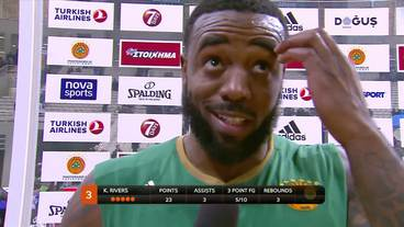 Post-Game Interview: K.C. Rivers, Panathinaikos Superfoods Athens