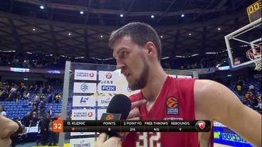 Post-Game Interview: Ognjen Kuzmic, Crvena Zvezda MTS Belgrade