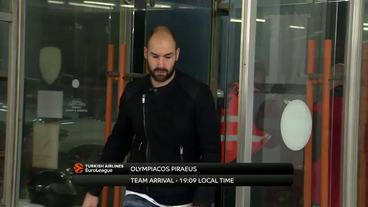 Teams'Arrival: Olympiacos Piraeus vs Baskonia Vitoria Gasteiz