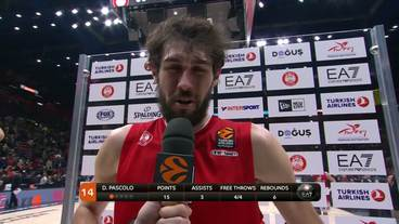 Post-Game Interview: Davide Pascolo, EA 7 Emporio Armani Milan