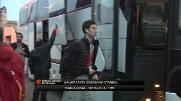 Teams' Arrivals: Panathinaikos Superfoods Athens vs. Galatasaray Odeabank Istanbul
