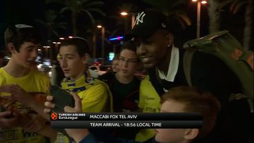 Teams' Arrivals: Baskonia Vitoria Gasteiz vs. Maccabi Fox Tel Aviv