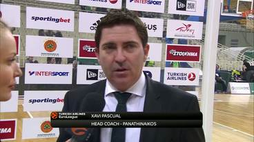 Post-Game Interview: Xavi Pascual, Panathinaikos Superfoods Athens