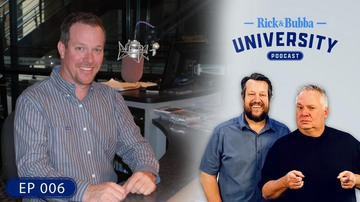 Ep 6 | Pole Climber to On-Air Talent, Conspiracies, & Life as a Grandpa | Rick & Bubba University