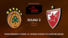 Top 16 - Round 3: Panathinaikos Athens vs. Crvena Zvezda Telekom Belgrade (Highlights)