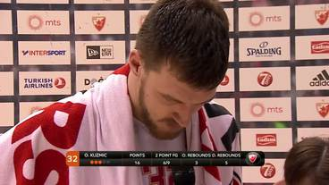 Post-Game Interview: Ognjen Kuzmic, Crvena Zvezda Telekom Belgrade