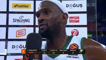 Post-Game Interview: Chris Singleton, Panathinaikos Superfoods Athens