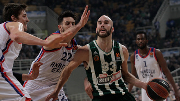 ROUND 21: Nick Calathes Posts 20 points & 13 assists vs. Anadolu Efes Istanbul