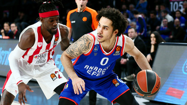 Shane Larkin Top Assists  vs. Olympiacos Piraeus, 02/21/2019