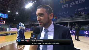 Post-game Interview, Ibon Navarro, Morabanc Andorra
