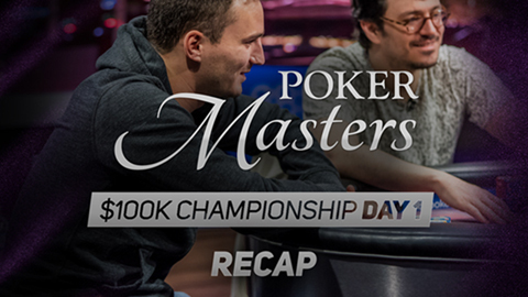 Poker Masters 100K Day 1 Recap