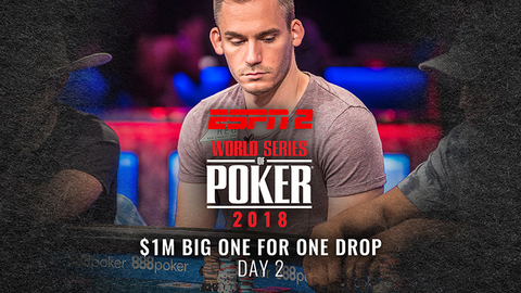 WSOP 2018 $1M Big One For One Drop | Day 2