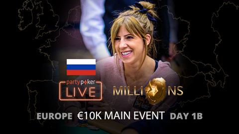partypoker MILLIONS Europe   €10K Main Event   Day 1B (Russian)