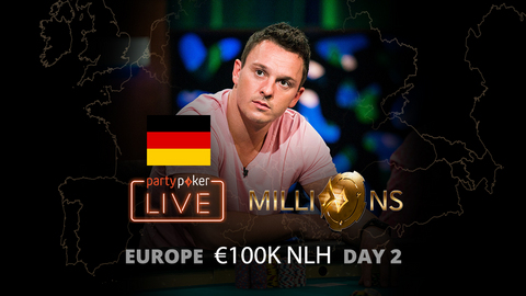 partypoker MILLIONS Europe   €10K Main Event   Day 2 (German)