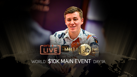PARTYPOKER MILLIONS WORLD | $10K MAIN EVENT | DAY 1A
