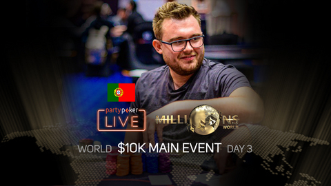 partypoker MILLIONS World 2019 | $10K Main Event | Day 3 (Portuguese)