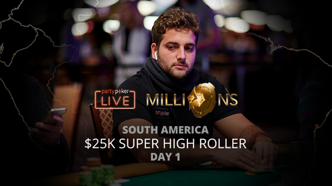 PARTYPOKER MILLIONS SOUTH AMERICA 2020 | $25K SUPER HIGH ROLLER | DAY 1