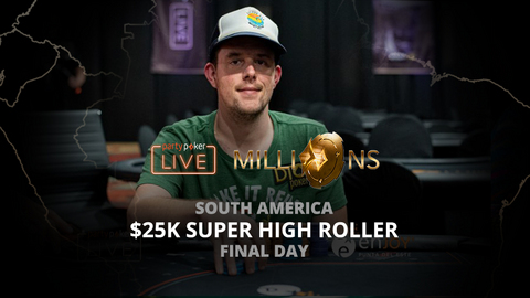 PARTYPOKER MILLIONS SOUTH AMERICA 2020 | $25K SUPER HIGH ROLLER | FINAL DAY