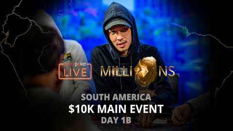PARTYPOKER MILLIONS SOUTH AMERICA 2020 | $10K MAIN EVENT | DAY 1B