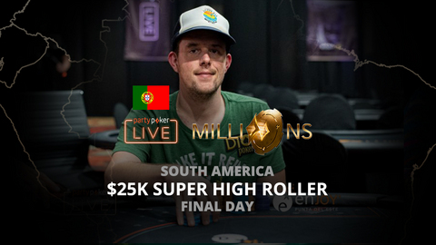 PARTYPOKER MILLIONS SOUTH AMERICA 2020 | $25K SUPER HIGH ROLLER | FINAL DAY (PORTUGUESE)