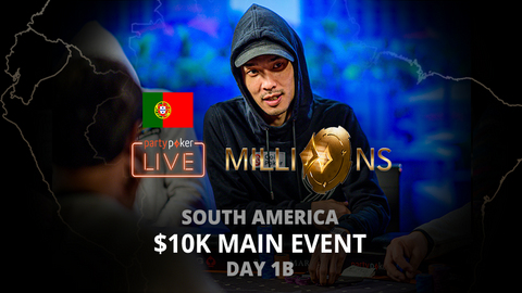 PARTYPOKER MILLIONS SOUTH AMERICA 2020 | $10K MAIN EVENT | DAY 1B (PORTUGUESE)