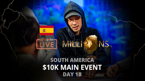 PARTYPOKER MILLIONS SOUTH AMERICA 2020 | $10K MAIN EVENT | DAY 1B (SPANISH)